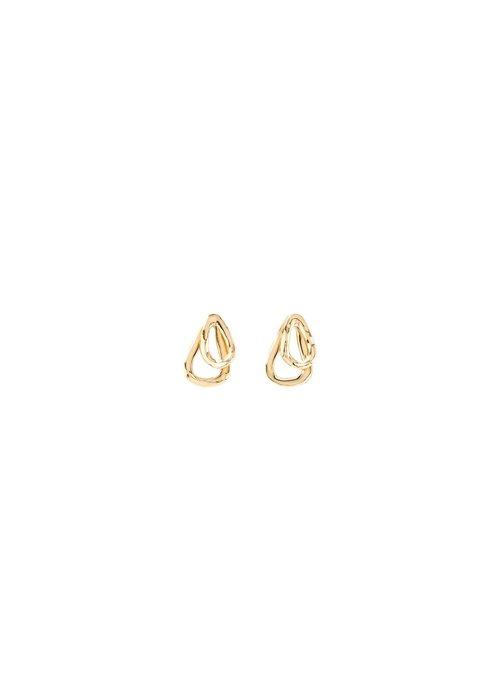 "UNO DE 50 Uno De 50 ""Connected"" Gold Earrings"