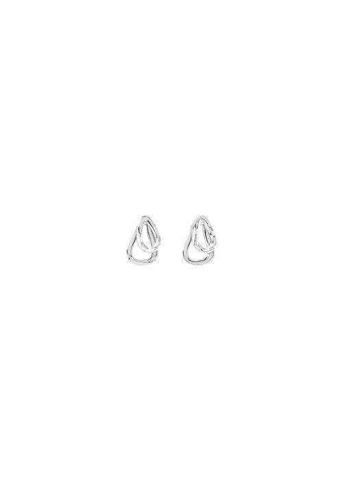 """UNO DE 50 Uno De 50 """"Connected"""" Silver Earrings"""