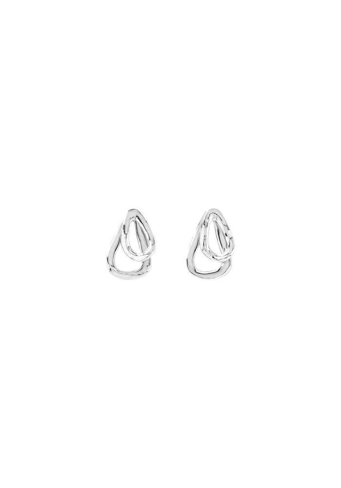 "Uno De 50 ""Connected"" Silver Earrings"