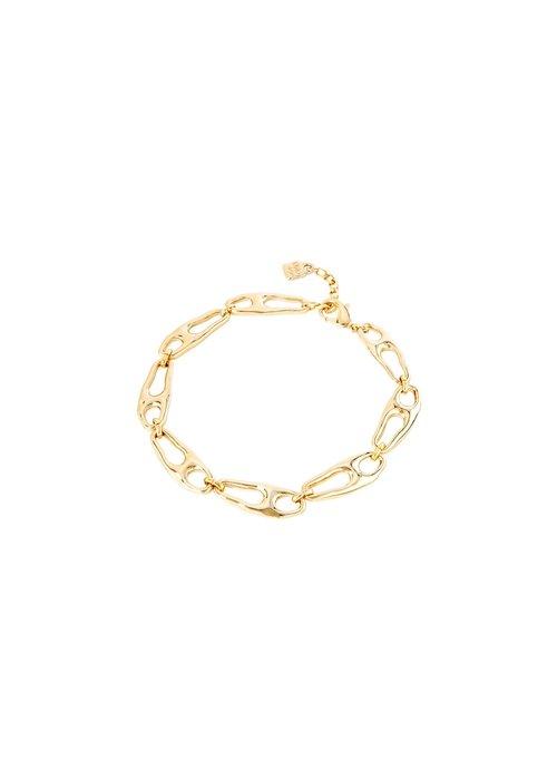"""UNO DE 50 Uno De 50 """"Connected"""" Gold Necklace"""
