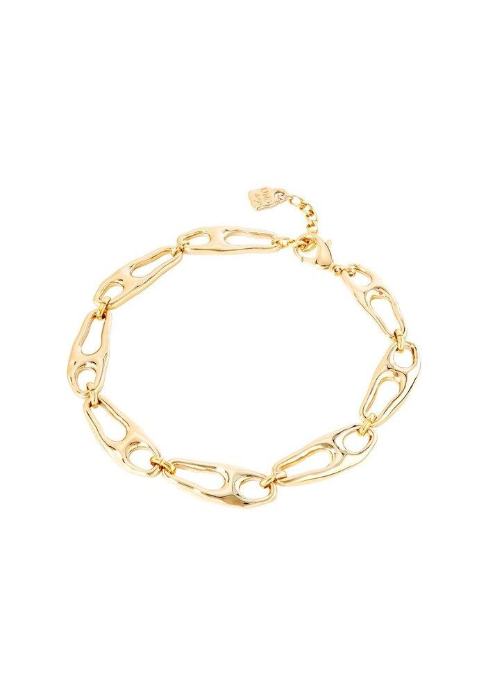 """Uno De 50 """"Connected"""" Gold Necklace"""