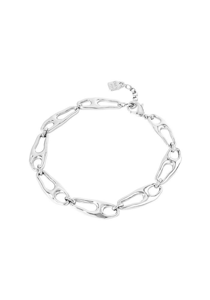 """Uno De 50 """"Connected"""" Silver Necklace"""