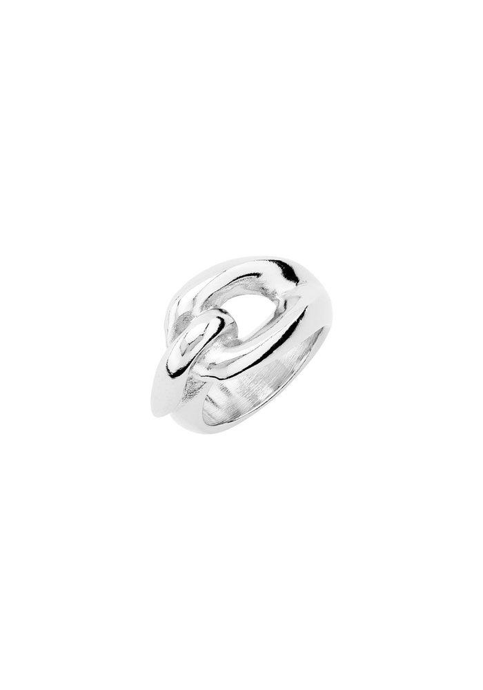 """Uno De 50 """"Sew Me"""" Silver Ring"""