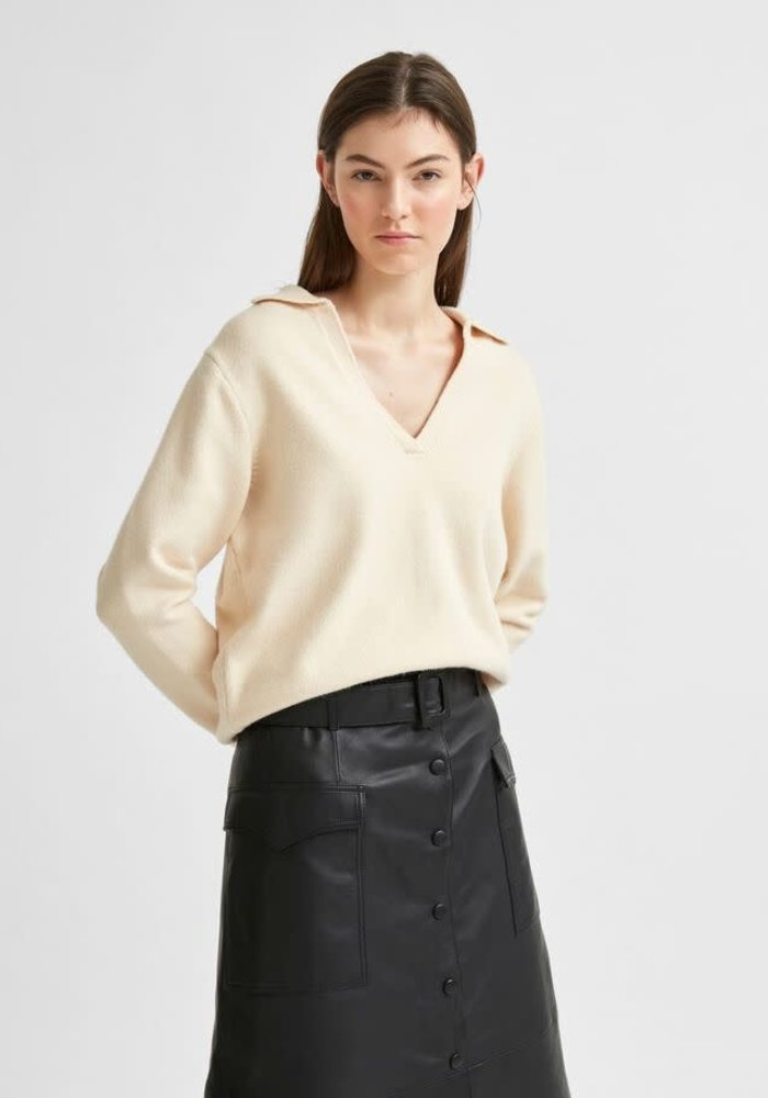 Selected Femme Soft Polo Knit