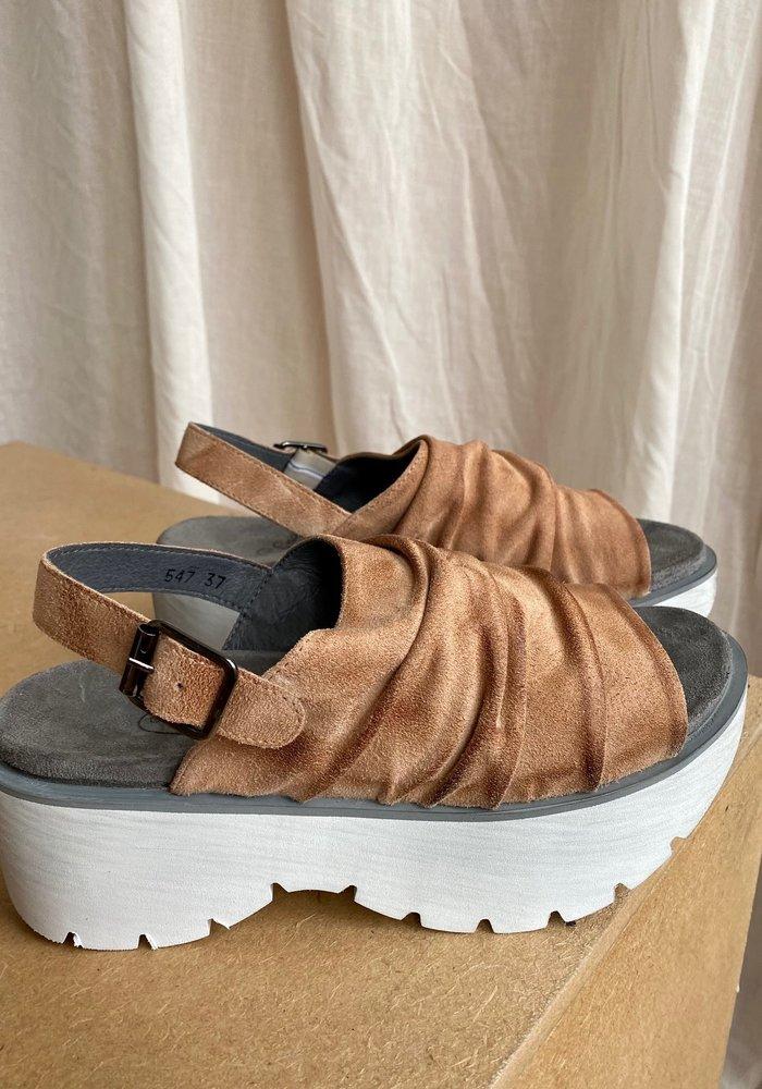 Lofina Rocker Sole Suede Sandal