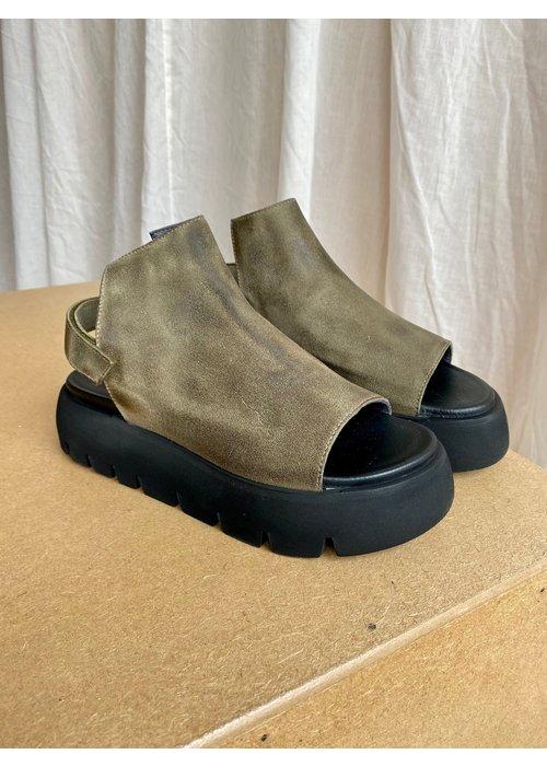 LOFINA Lofina High Front Suede Sandal