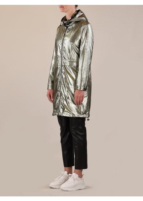 RINO & PELLE Rino & Pelle Glamour Metallic Hooded Parka