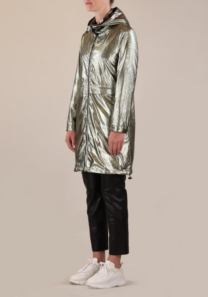 Rino & Pelle Glamour Metallic Hooded Parka