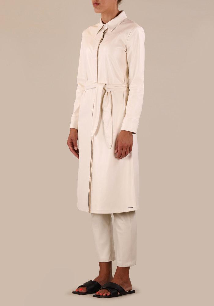 Rino & Pelle Sandon Faux Leather Blouse Dress