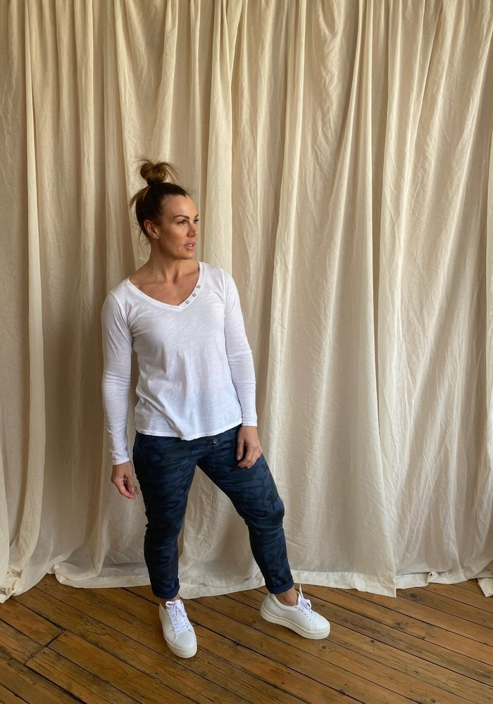 Suzy D Camouflage Button Joggers