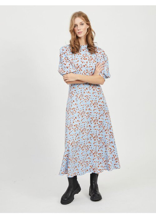 VILA Vila Vitiki Puff Sleeve Midi Dress