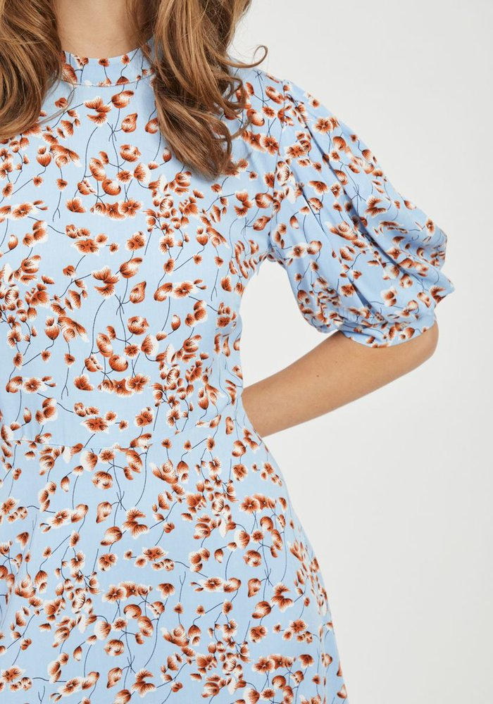 Vila Vitiki Puff Sleeve Midi Dress