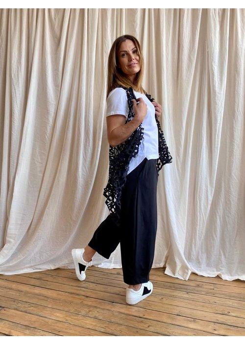 RUNDHOLZ BLACK LABEL Rundholz Black Label Laser Cut Waistcoat Short