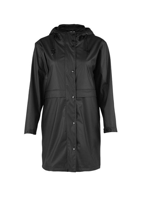 SAINT TROPEZ Saint Tropez Rubberised Hooded Raincoat