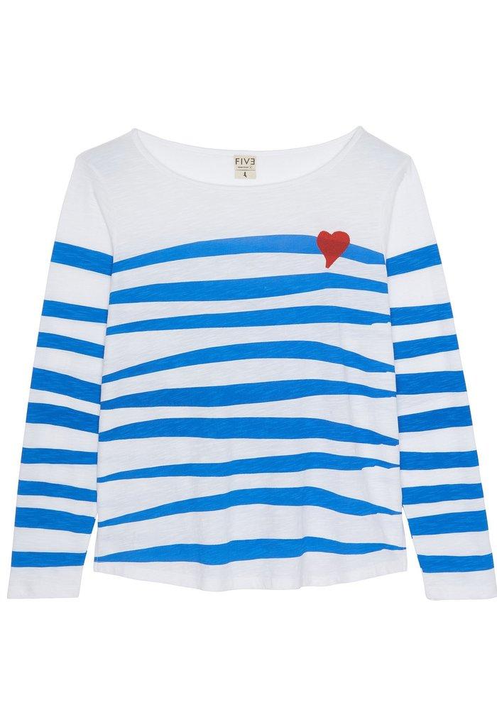 Five Striped Heart T-shirt