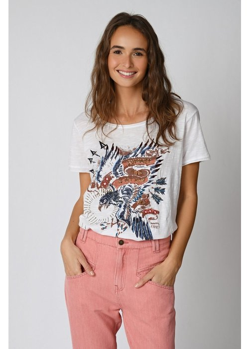 FIVE Five Eagle Print T-Shirt