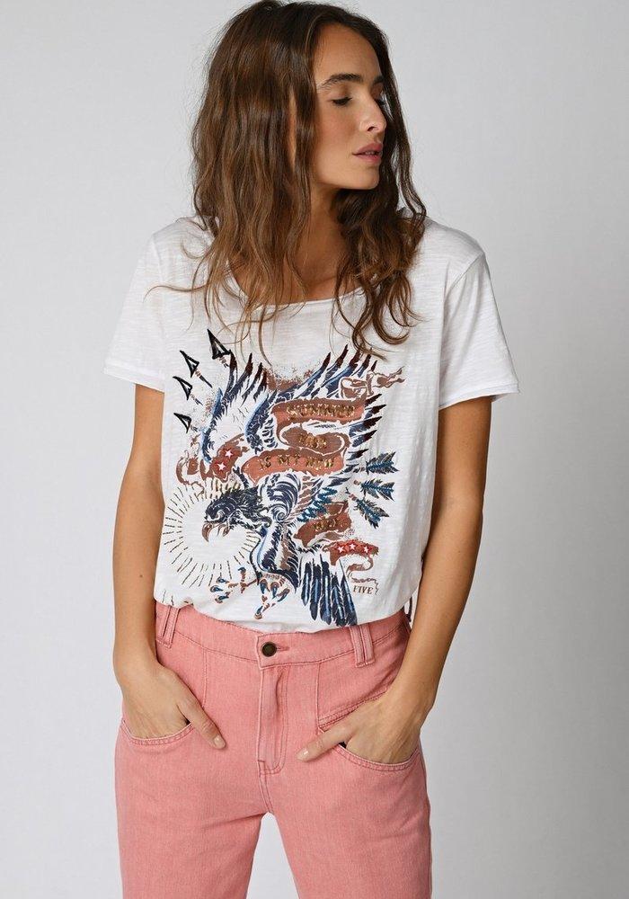 Five Eagle Print T-Shirt