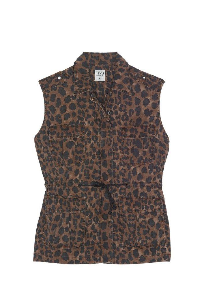 Five Judith Leopard Waistcoat