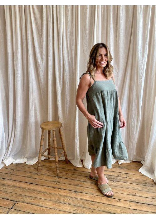SUZY D Suzy D Sapphire Linen Dress