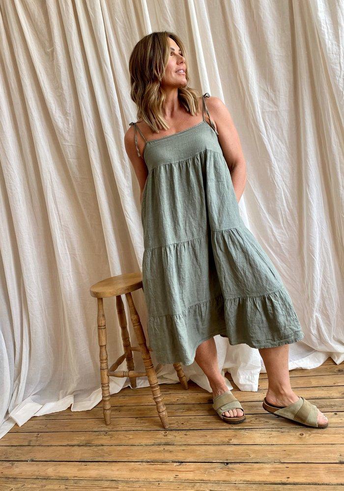 Suzy D Sapphire Linen Dress