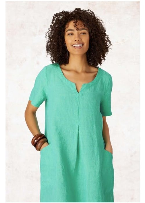 SAHARA Sahara Cross Dye Linen Bubble Dress
