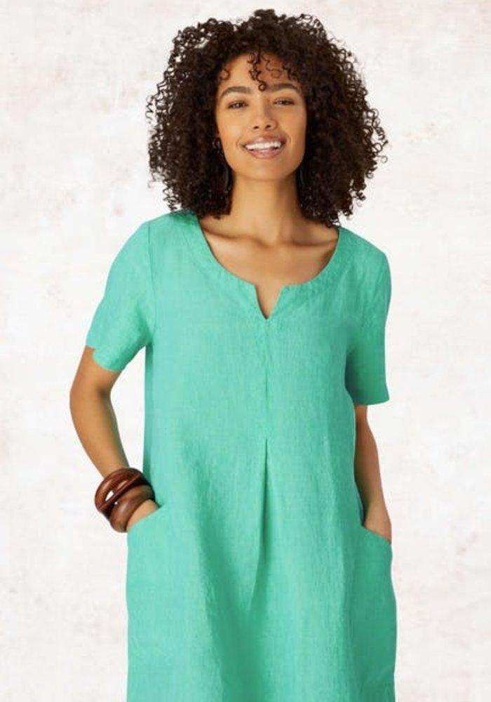 Sahara Cross Dye Linen Bubble Dress