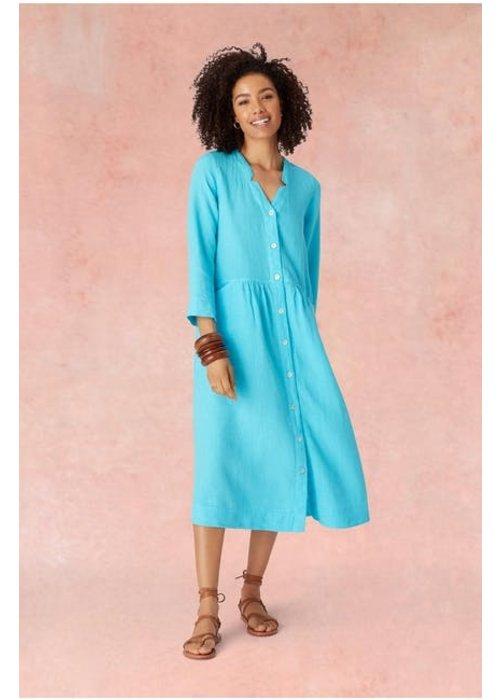 SAHARA Sahara Long Sleeve Linen Shirt Dress