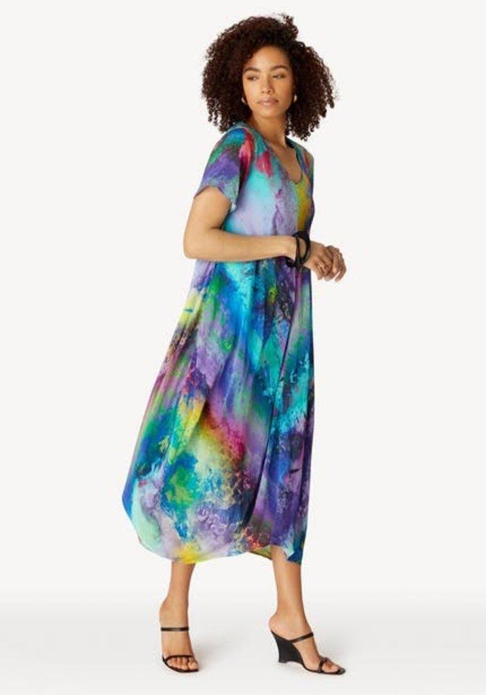 Sahara Vivid Cosmos Print Dress