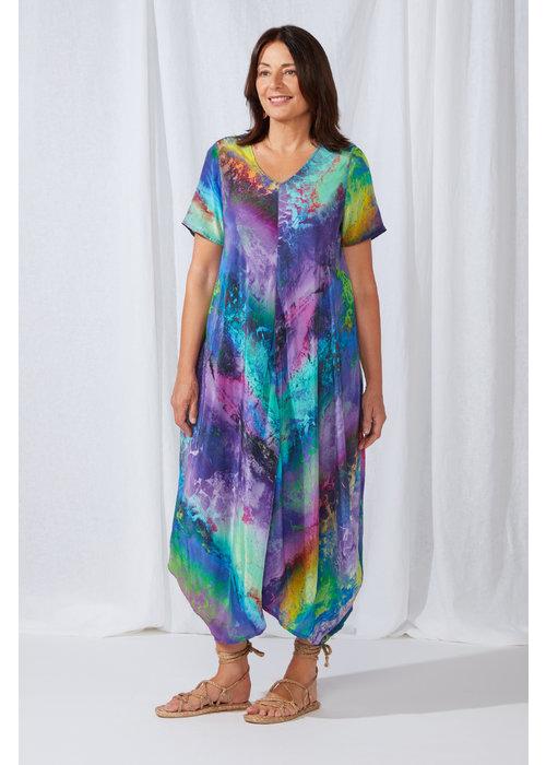SAHARA Sahara Vivid Cosmos Print Dress