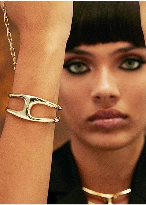 "UNO DE 50 Uno De 50 ""Two in One"" Gold & Leather Bracelet"