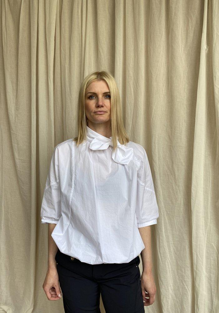 High Tech Delight Tie-Neck Shirt