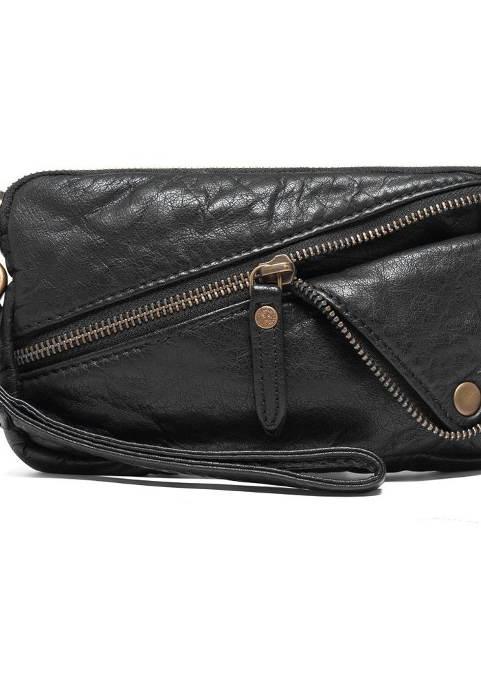 Depeche Small Clutch with Foldover Zip
