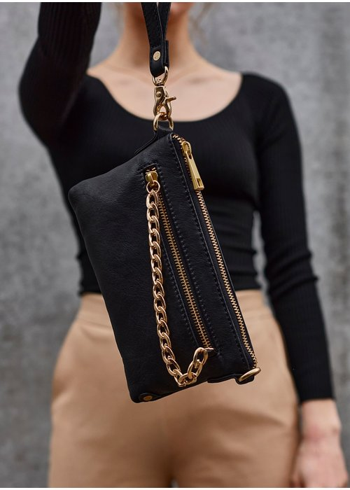 DEPECHE Depeche Small Leather Bag with Chain