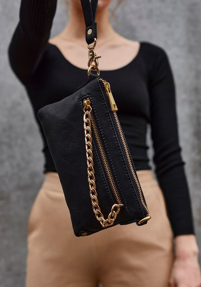 Depeche Small Leather Bag with Chain