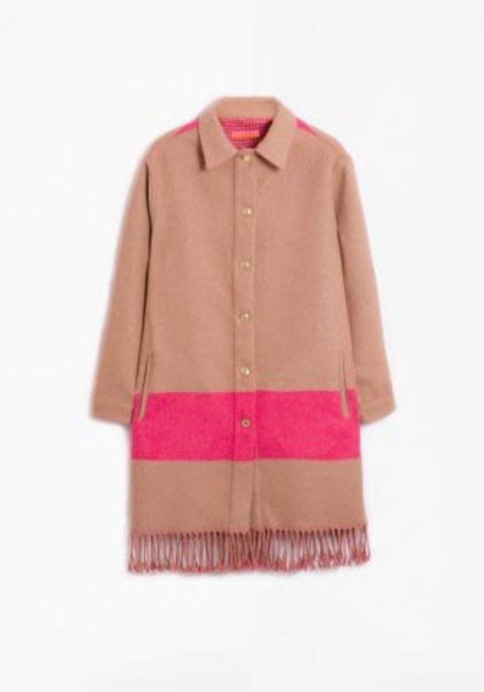 Vilagallo Gaila Pink Fringe Jacket