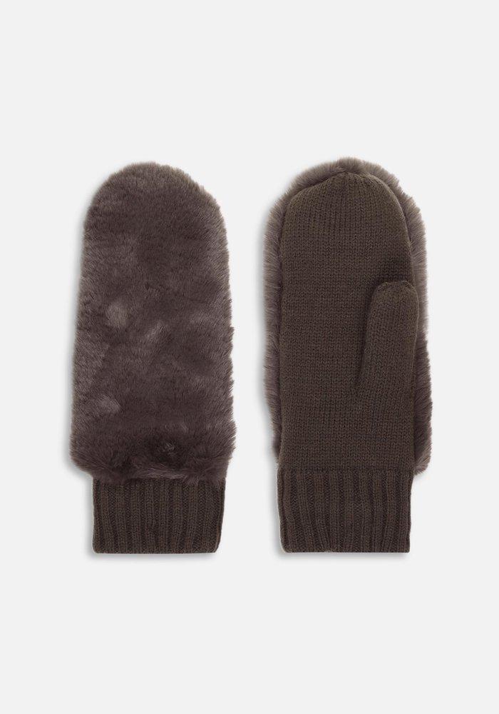 Rino & Pelle Oxo Faux Fur Gloves
