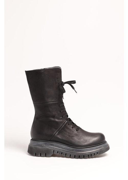 LOFINA Lofina Lace Up Leather Midi Boots