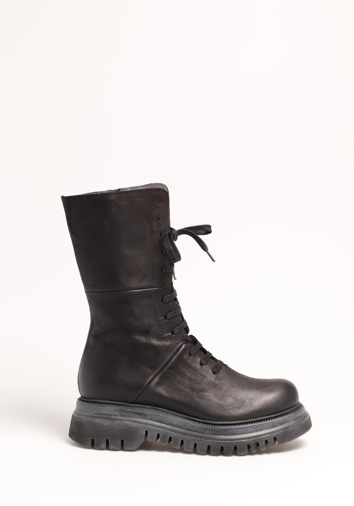 Lofina Lace Up Leather Midi Boots