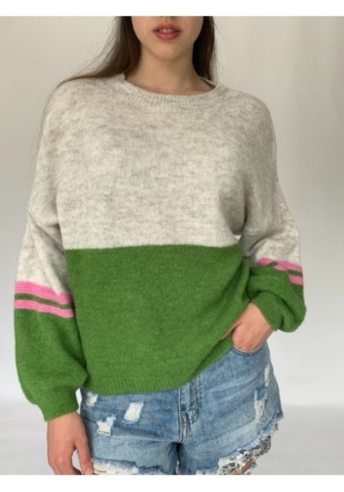 N and Willow Round Neck Combo Jumper