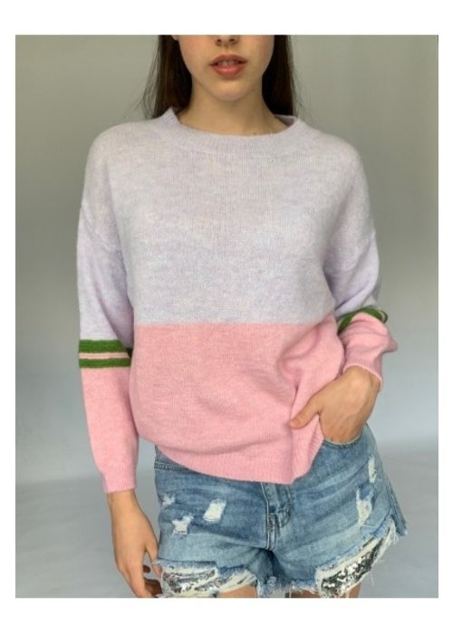 N AND WILLOW N and Willow Round Neck Combo Jumper