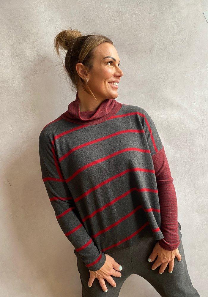 Mama B Monte Striped Fleece Top