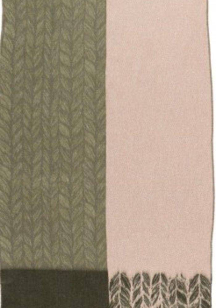 Fraas Leaf Print Edge Scarf