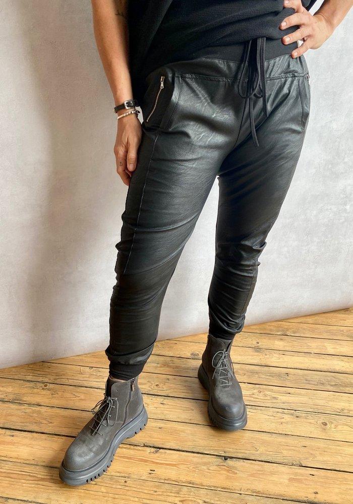 Suzy D Vegan Leather Joggers