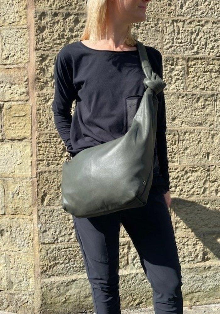 Depeche Asymmetrical Leather Bumbag 14808