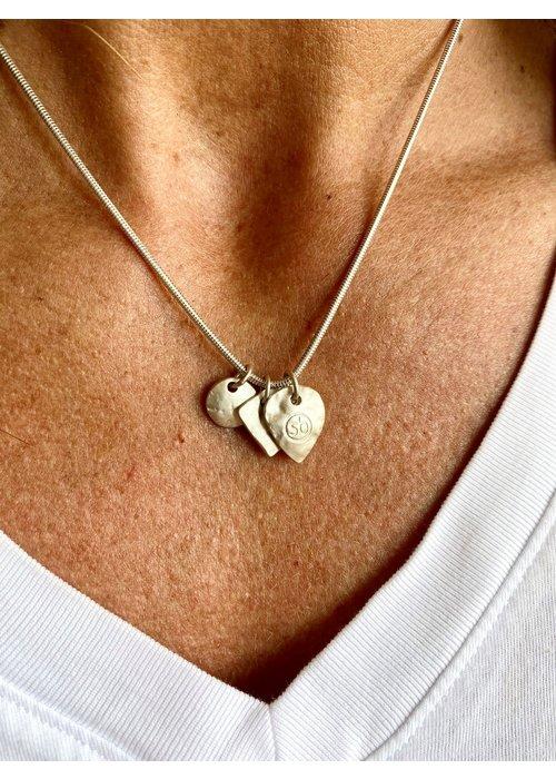 SUNDAY BEST Sunday Best Short Silver Necklace  Matt