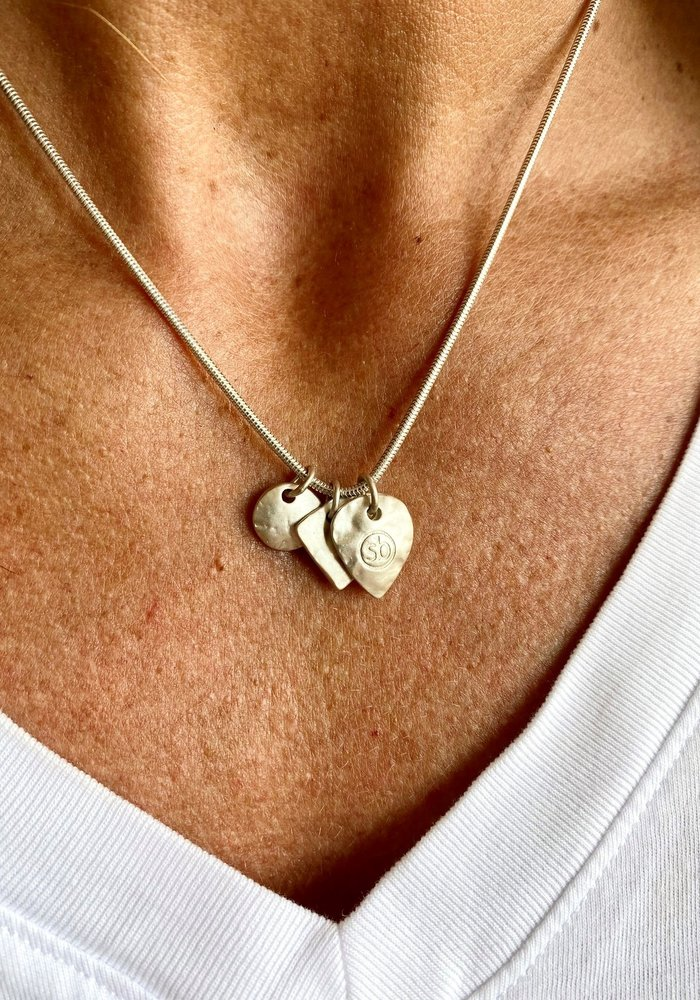 Sunday Best Short Silver Necklace  Matt