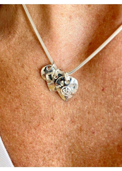 SUNDAY BEST Sunday Best Short Silver Necklace Shiny
