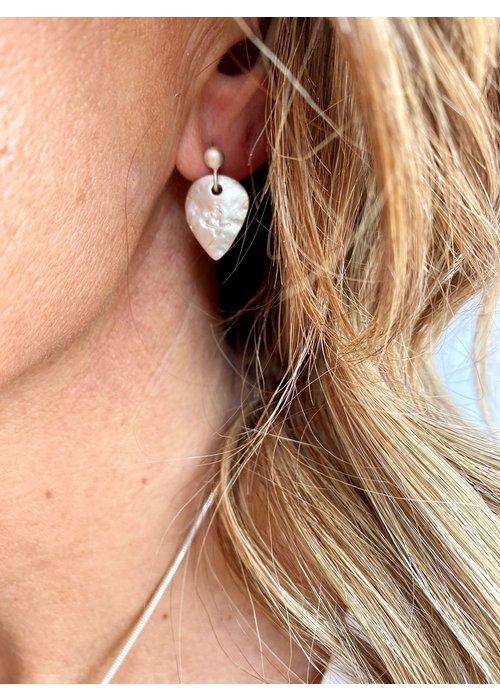 SUNDAY BEST Sunday Best Silver Heart Earrings Matt