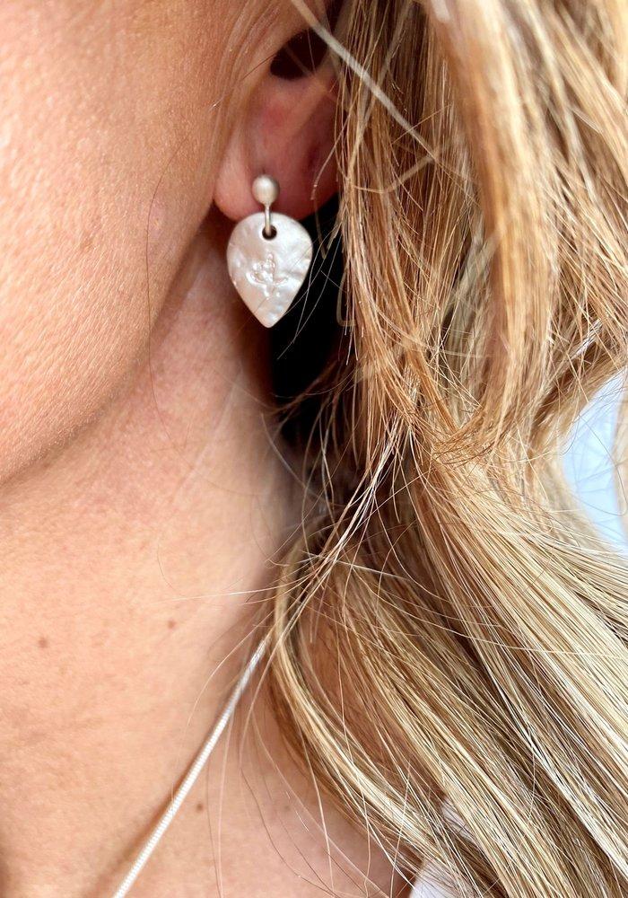 Sunday Best Silver Heart Earrings Matt