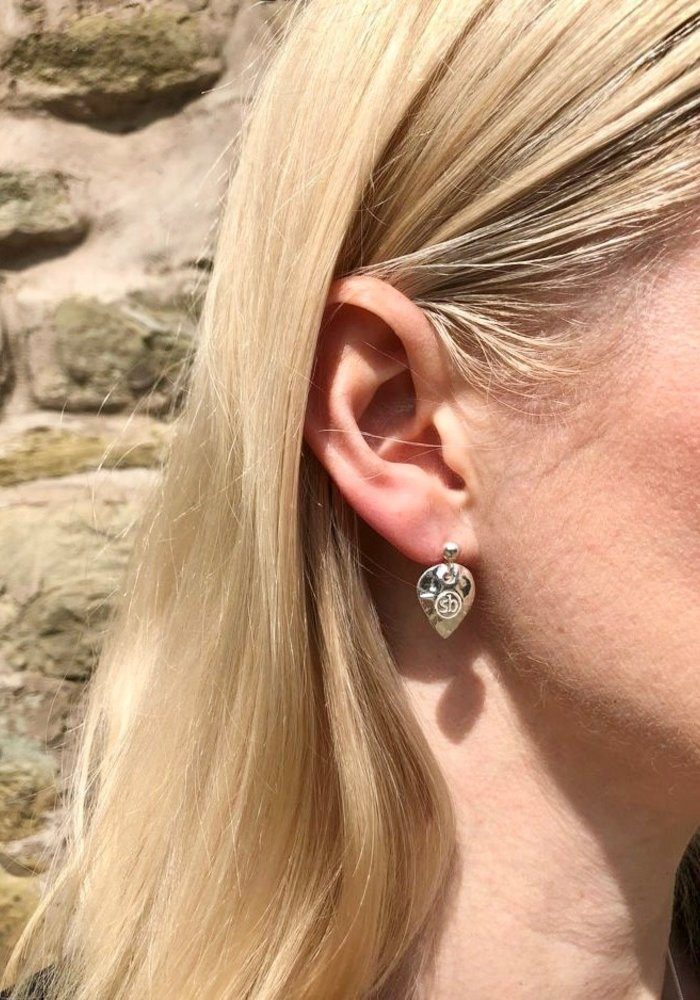 Sunday Best Silver Heart Earrings Shiny